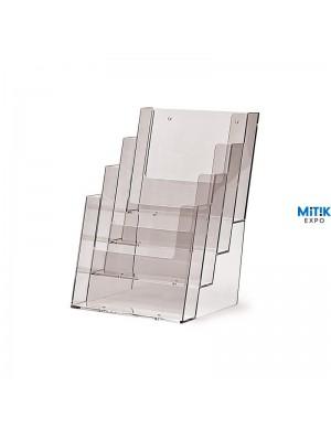 Portafolletos A4 cuadriple Vertical