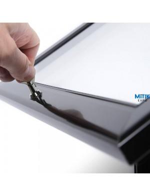 Atril información Black con luz LED para formatos 2 DIN A4 - 1