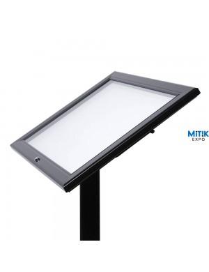 Atril información Black con luz LED para formatos 2 DIN A4 - 2