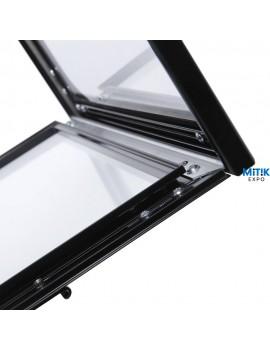 Atril información Black con luz LED para formatos 2 DIN A4 - 3