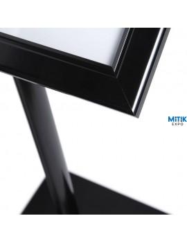 Atril información Black con luz LED para formatos 2 DIN A4 - 5