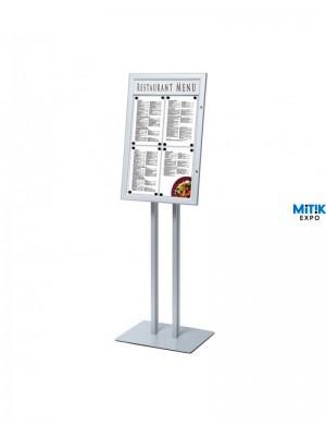 Atril información Vertical con luz Led en formato 4 DIN A4