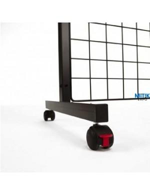 Soporte panel rejilla con ruedas 1