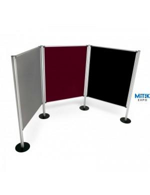 Mampara modular corcho tapizado 120 x 150 cm - 2