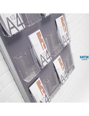 Expositor mural Tapi con cajetines para folletos tríptico