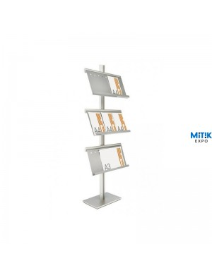 Expositor catálogos y folletos Stand Trio