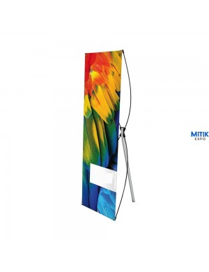 Expositor Banner X para formatos 60x180 ó 80x200 cm