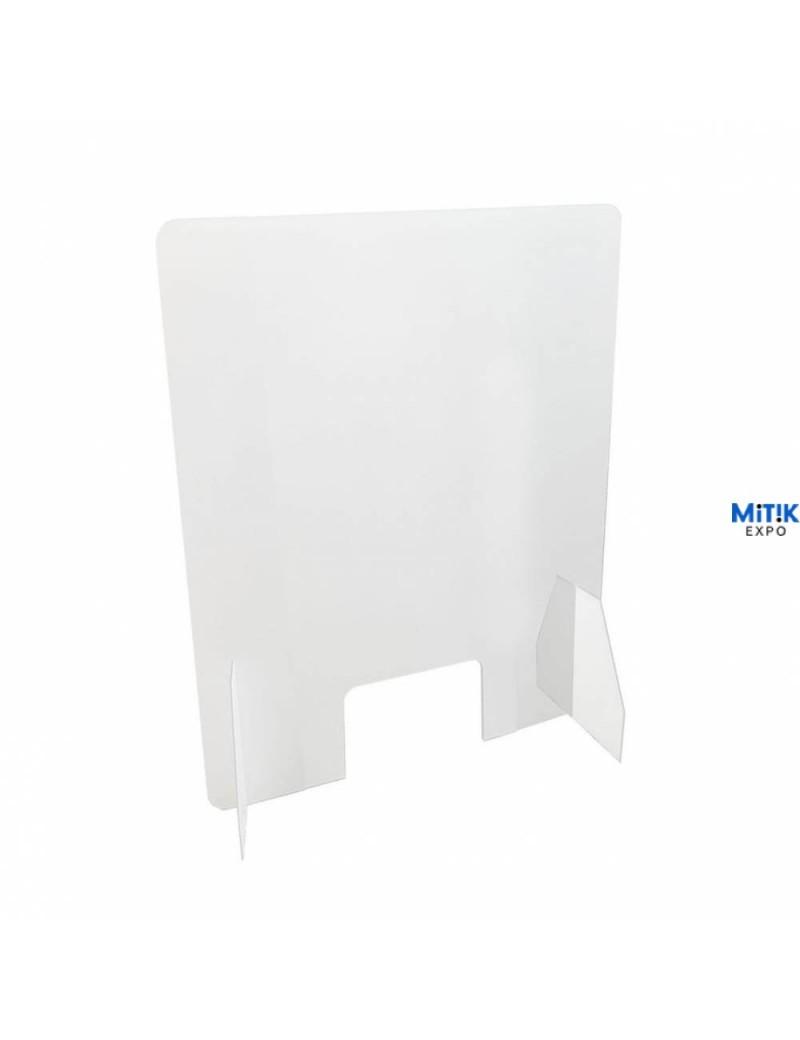 Mampara de metacrilato económica para separación de espacios en mostrador o mesa 50 x 75 cm