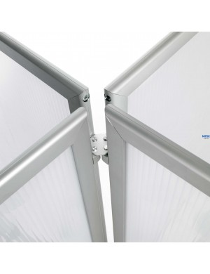 Mampara Limit para separación de espacios y protección contagios. Disponible en 100x120, 100x150 ó 100x180 cm - Detalle 4