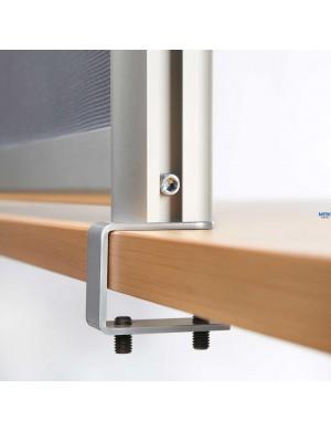 Separador de mesa para protección y seguridad. Disponible en 4 formatos traslúcido o transparente.