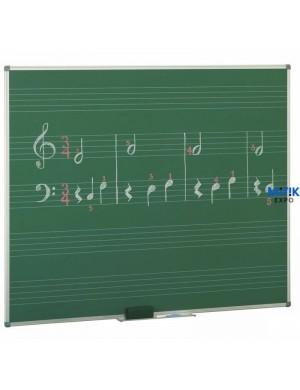 Pizarra verde laminada Music
