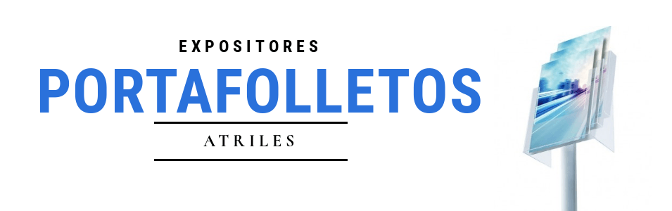 Atril portafolletos | Expositor pie para folletos publicitarios