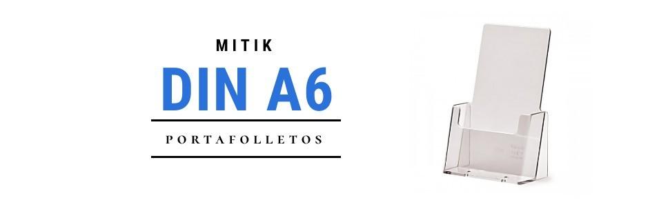 Portafolletos DIN A6 | Mitik Expo - Expositores metacrilato