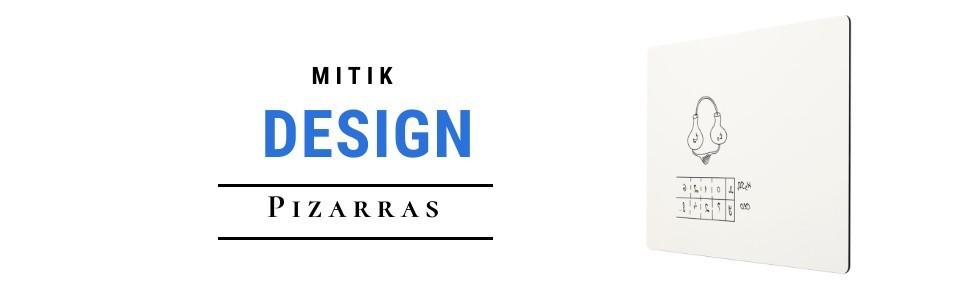 Pizarras blancas de acero vitrificado y diseño elegante e innovador