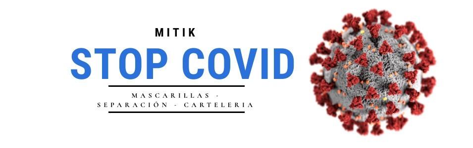 Nueva gama Stop - Covid 19 | Mascarillas - separación - Carteleria