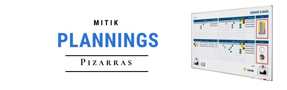 Pizarras blancas con plannings serigrafiados o personalizados