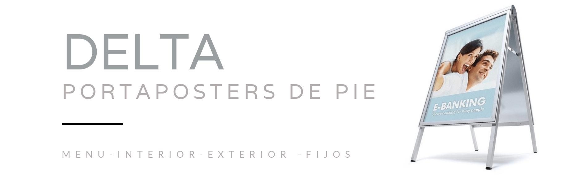 Portaposters delta de pie